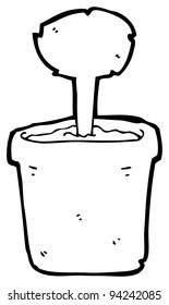 flowerpot cartoon (raster version)