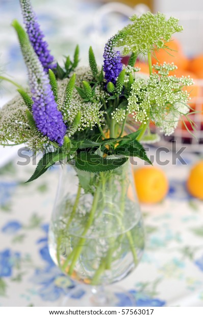 Flowers Arrangement Fruits Veronica Spicata Queen Stock Photo Edit Now 57563017