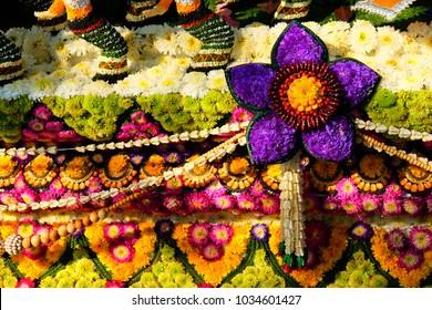 flowers artwork Chiang Mai Thailand
