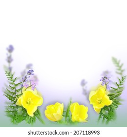 Flowers background as a holiday postcard design