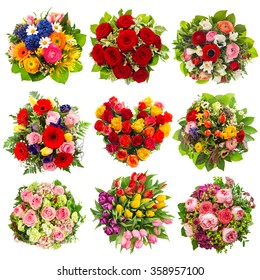 Bouquets Colorful Flowers Birt...