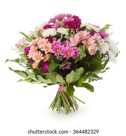 Flowers bouquet made of chrysanthemum flowers and alstroemeria