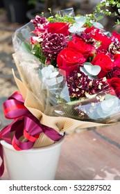 Flowers bouquet, Roses.