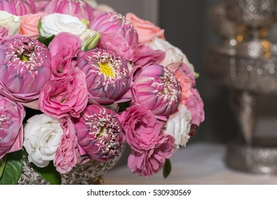 flowers bouquet in a vase, close-up
