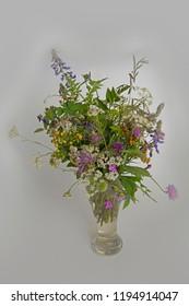 FLOWERS - bouquet of wild flowers in a vase