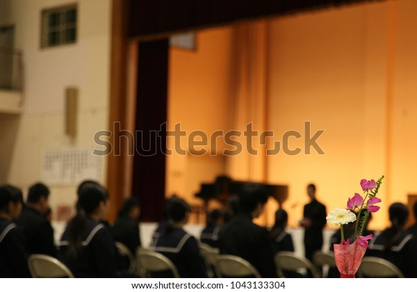 Flowers at Ceremony of Graduation