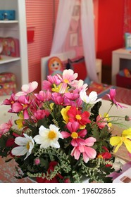 flowers in children room