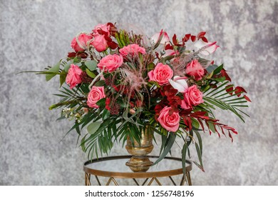 Flowers composition. Abstract background of flowers. Close-up. Beautiful bouquet of fresh flowers.