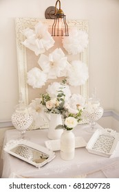 Flowers decoration for a baby shower cute party