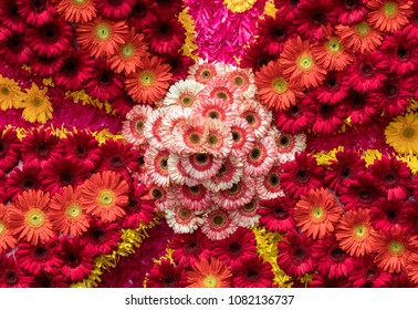 Flowers decoration at the Madeira Flower Festival. Madeira Islands, Portugal