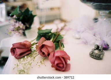 flowers and decorations at wedding