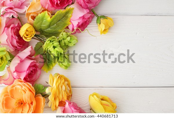flowers frame background