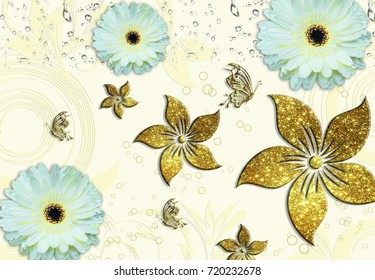 Flowers gold
