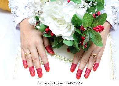 flowers and hands