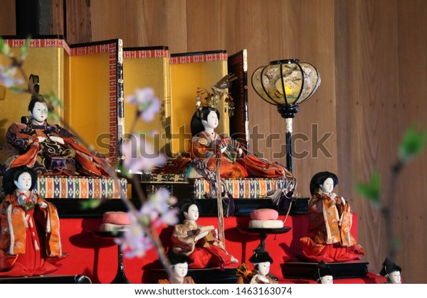 flowers and Hinamatsuri is a festival celebrating for girls in Japanese event on March 3rd