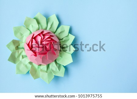 Flowers Made Paper Water Lilies Stock Photo Edit Now 1013975755