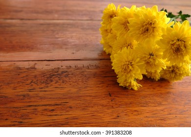 Flowers on the desk