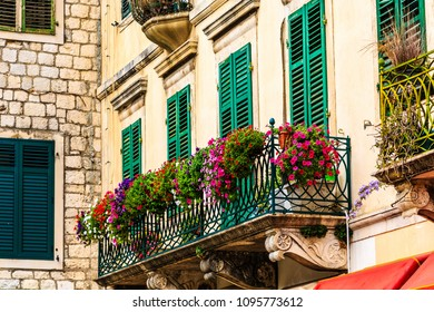 Flowers on Iron Balcony