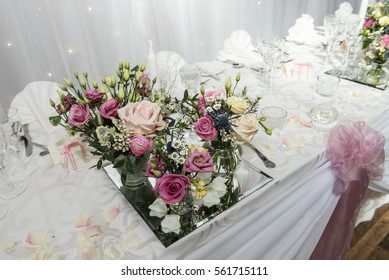 Flowers on the top table