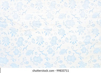 Flowers pattern on white paper