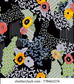 Flowers pattern.for textile, wallpaper, pattern fills, covers, surface, print, gift wrap, scrapbooking, decoupage.
