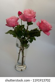 FLOWERS -  roses in a glass vase