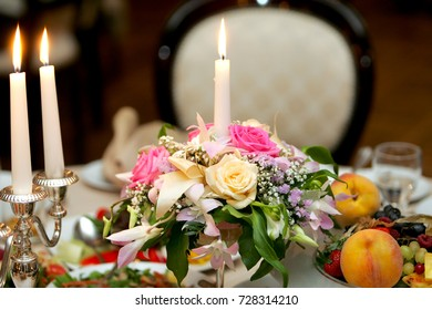 flowers served on the table