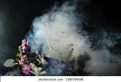 flowers in the smoke abstract studio shot