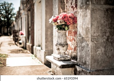 Flowers and Tombs in Lafeyette Cemetery