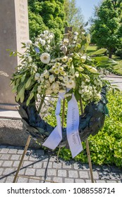 Flowers At The War Monument Amsterdamseweg Amstelveen The Netherlands 2018