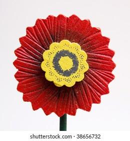 Flower-shaped ornament