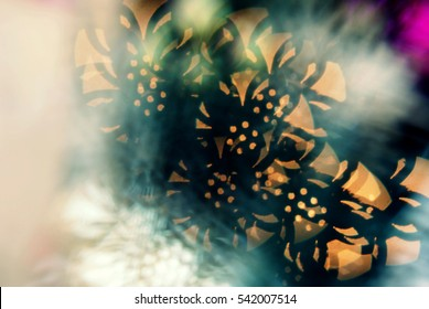 Flowery bokeh background