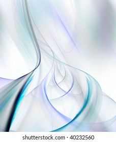 Flowing ribbons of thread textures in weaving effect against motion blur.  Fractal collage, abstract background design.