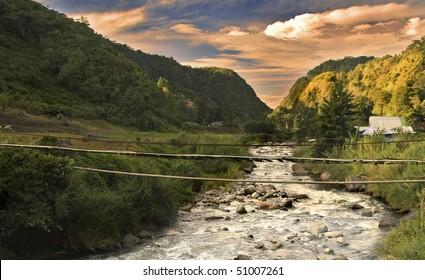Flowing River In Rural Panama