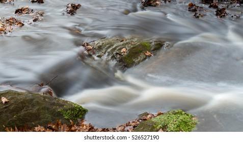 Flowing Silky Stream Captured in long exposure
