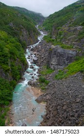 Flowing Stream of Water in Scenic Alaska