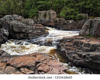 Flowing water in the Dells of the Eau Claire
