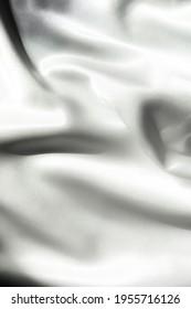 flowy white fabric, black and white photo