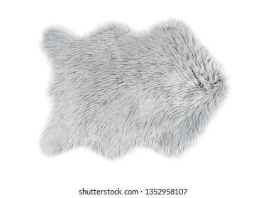 Fluffy carpet on white background