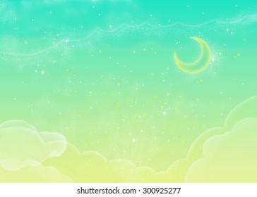 Fluffy Green Sky