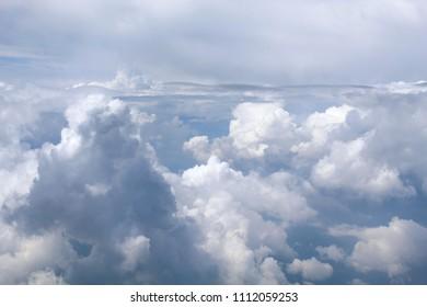Fluffy monsoon clouds over Mumbai city