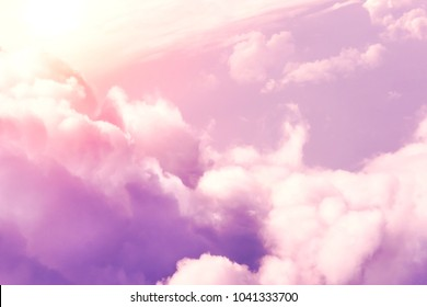 Fluffy pink clouds, background
