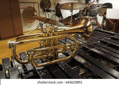 Flugelhorn on the xilophone