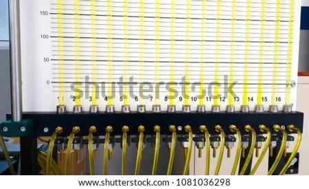 Fluid Mechanics Test Check Pressure Distribution Stock Photo (Edit
