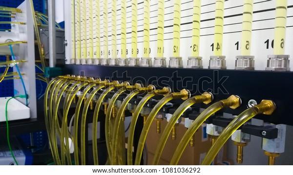 Fluid Mechanics Test Check Pressure Distribution Stock Photo