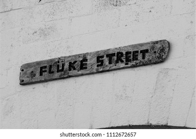 Fluke Street Sign - Isle of May