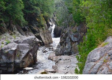 The Flume Falls on the Au Sable River, near Wilmington, New York, located in the Adirondack Mountains.
