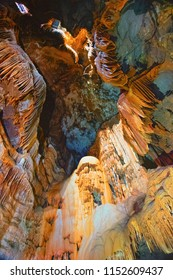 Fluminimaggiore, Sardinia, Italy - August 07, 2018: The Su Mannau cave is located in the territory of the municipality of Fluminimaggiore in southern Sardinia, in an area that is part of a large karst