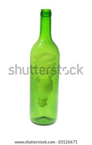 Fluorescent Light Bulb Bottle On Isolated Stock Photo Edit Now