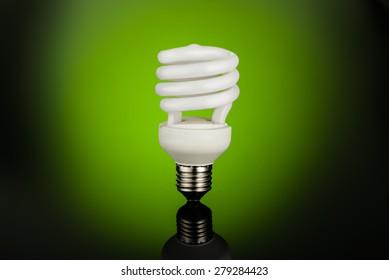 Fluorescent light bulb on color full background